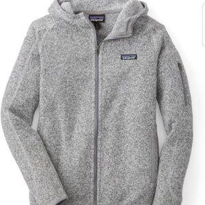 NWT Patagonia Better Sweater Gray Full Zip Hoodie